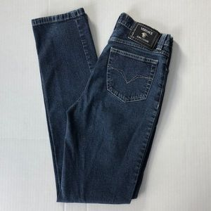 Versace Jeans Vintage High Rise Straight Leg Jeans